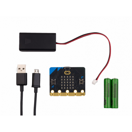 MICRO-BIT V2 GO BUNDLE (micro:bit V2) sada so zakladnym prislusenstvom