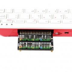 Raspberry Pi 400 GPIO Header Adapter, Header Expansion, 2x 40PIN Header (WS-18995)