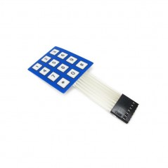 Keypad MEMBRANE 4x3 (52x40mm) PAD WITH STICKER (IM120726001)