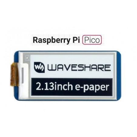 2.13inch E-Paper E-Ink Display Module for Raspberry Pi Pico, 250×122, Black / White, SPI (WS-19406)