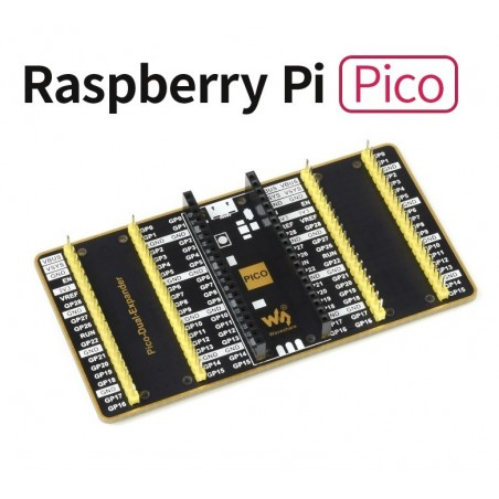 Dual GPIO Expander for Raspberry Pi Pico, Two Sets of Male Headers (WS-19343)
