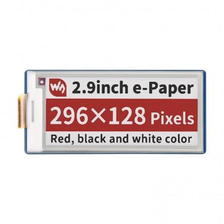 2.9inch E-Paper E-Ink Display Module (B) for Raspberry Pi Pico, 296×128, Red / Black / White, SPI (WS-19607)