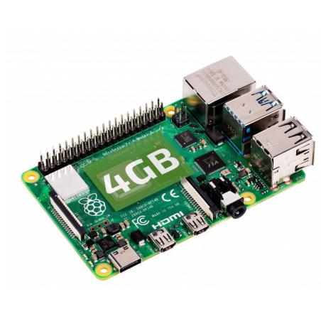 RASPBERRY PI 4 MODEL B 4GB V1.2, USB3.0, 2×HDMI 4Kp60,2.4/5.0GHz 802.11b/g/n/ac BLE5.0