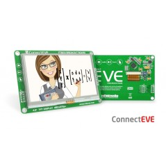 ConnectEVE (MIKROE-1429) FT800 graphics controller