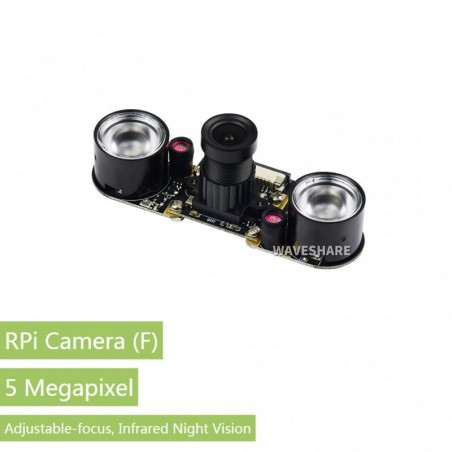 RPi Camera F (WS-10299) Raspberry Pi Camera Module,Night Vision,Adjustable-focus, 15cm Cable   (114990837)