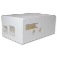 CBRPF-WHT (CAMDENBOSS) ENCLOSURE, BOX RASPBERRY PI FACE, WHITE