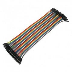 Prepojovaci kabel samica/samica (FEMALE/FEMALE) JUMPER WIRE 200mm (40ks)