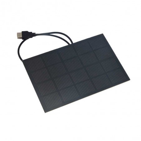 SOLAR CELL 5V 600mA MONOCRYSTALLINE PET WITH USB CABLE