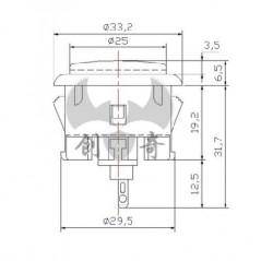 Arcade Button - 30mm Translucent Clear (Adafruit 471)