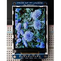 "TFT LCD 2.2"" 18bit color ILI9340 +microSD (Adafruit 1480)"