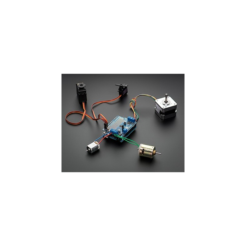 Motor/Stepper/Servo Shield for Arduino v2 Kit - v2.0 (Adafruit 1438) - RLX COMPONENTS s.r.o. Electronic Components Distributor