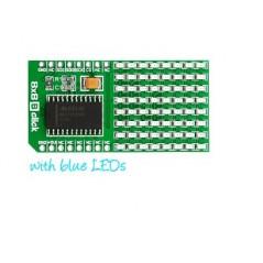 MIKROE-1307 8x8 B click (8x8 BLUE LED display matrix with MAX7219)