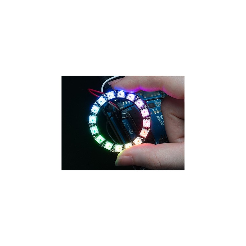 NeoPixel Ring - 16 x WS2812 5050 RGB LED with Drivers (Adafruit 1463)