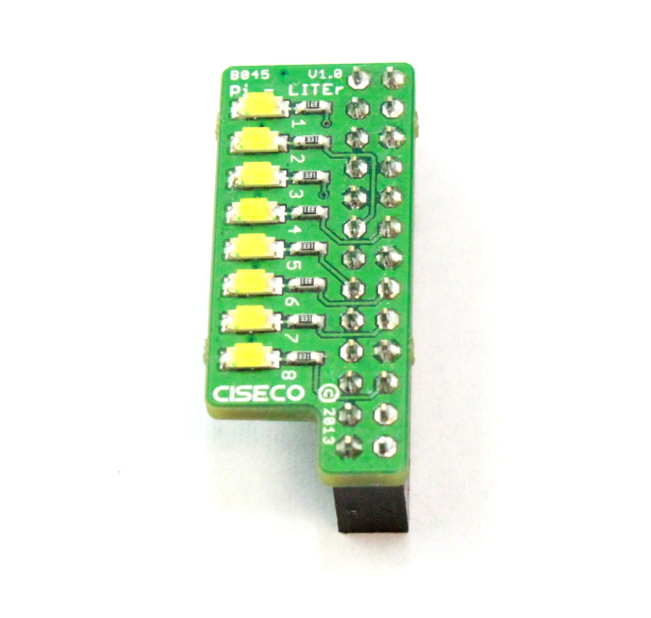 Pi Liter 8 Led Strip For The Raspberry Ciseco B045 Rlx Wiringpi Examples Components Sro Electronic Distributor