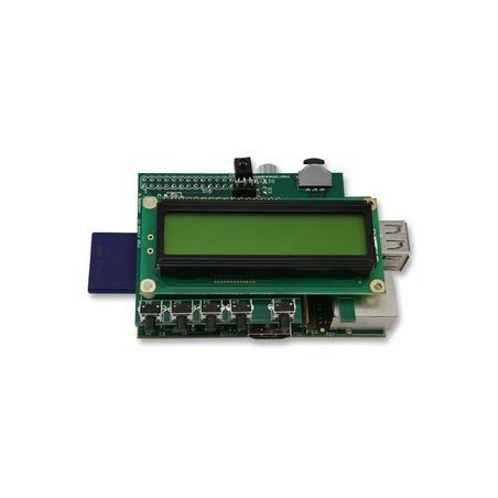 PIFACE CONTROL & DISPLAY, Raspberry Pi I/O BOARD WITH LCD DISPLAY