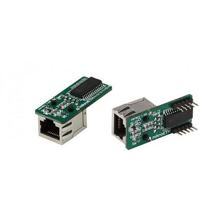 mikroETH Board with connectors (MIKROELEKTRONIKA)