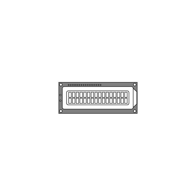 HDM16216L-5-L30S (LCD 2x16 Yellow LED Backlight)