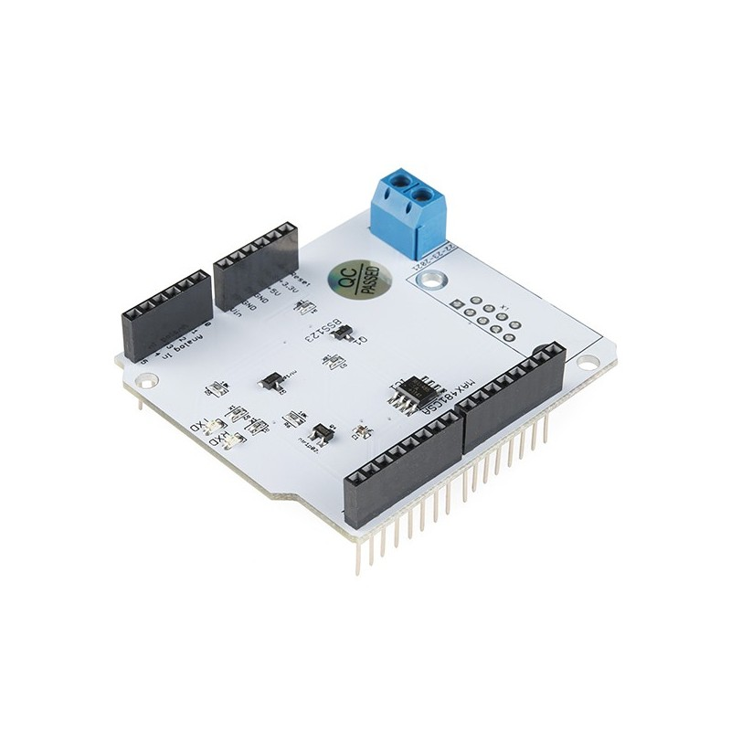 Replaced dev rs shield for arduino sparkfun