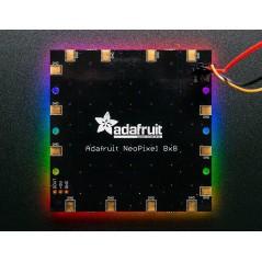 Adafruit NeoPixel NeoMatrix 8x8 - 64 RGB LED Pixel Matrix (Adafruit 1487)