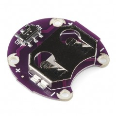 * replaced DEV-13883 * LilyPad Coin Cell Battery Holder - Switched - 20mm (Sparkfun DEV-11285)