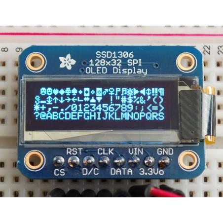 Monochrome 128x32 SPI OLED graphic display (Adafruit 661)