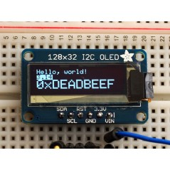 Monochrome 128x32 I2C OLED graphic display (Adafruit 931)