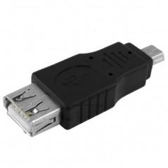 Adapter / Redukcia USB A zásuvka - USB B mini vidlica (USBmini) pre kabel