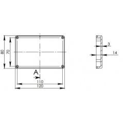 ABS-75Z/BK univerzálny BOX (Arduino, Raspberry Pi,  ) 80x120x41mm