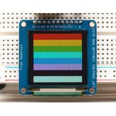 """OLED Breakout Board - 16-bit Color 1.5"""" w/microSD holder (Adafruit 1431)"""
