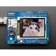 "1.8"" 18-bit Color TFT Shield w/microSD and Joystick (Adafruit 802)"