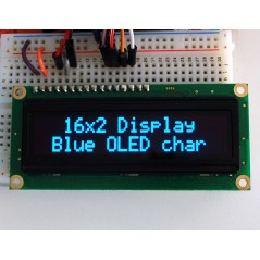 Blue Character OLED 16x2 (Adafruit 823) HD44780 compatible