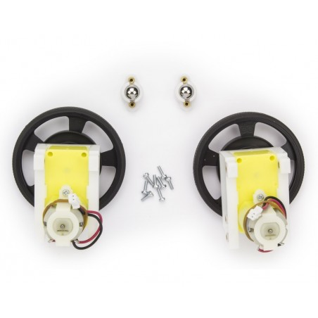 C000063 Robot 2 wheels set -  The full set of wheels and motors for the Arduino Robot