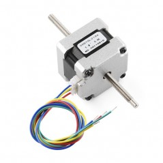 Stepper Motor - 29 oz.in (200 steps/rev, Threaded Shaft) (Sparkfun ROB-10848)