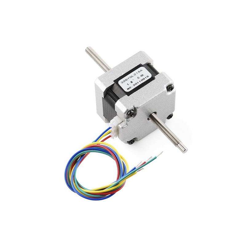 Stepper Motor - 29 oz.in (200 steps/rev, Threaded Shaft) (Sparkfun ROB-10848) - RLX COMPONENTS s.r.o. Electronic Components Distributor