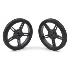 Pololu Wheel 60x8mm Pair - Black (POLOLU-1420)