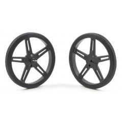 Pololu Wheel 70x8mm Pair - Black (POLOLU-1425)