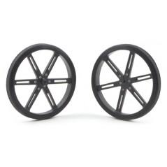 Pololu Wheel 90x10mm Pair - Black (POLOLU-1435)