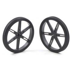 Pololu Wheel 80x10mm Pair - Black (POLOLU-1430)
