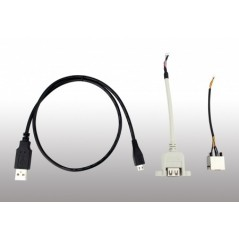 86Duino Zero Cable Set - Assortment of cables required for operation of the 86Duino Zero