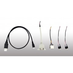 86Duino One Cable Set - Assortment of cables required for operation of the 86Duino One
