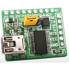 USB UART Board with 6 x 1 connector (MIKROELEKTRONIKA)