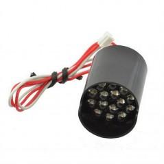 BL0106-15-39 LED pole 15xLED, RED 800-1800mcd, 9.3VDC