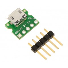 USB Micro-B Connector Breakout Board (POLOLU-2592)