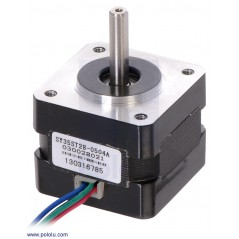 Stepper Motor: Bipolar, 200 Steps/Rev, 35×28mm, 10V, 0.5 A/Phase (POLOLU-1208)