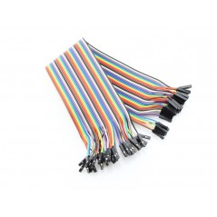 40Pin 2.54mm Dual Female Splittable Jumper Wire 200mm (ER-PCW02040P F-F ) (ER-PCW02040A)