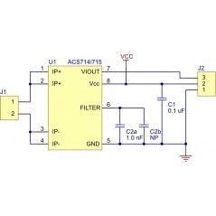 ACS711EX Current Sensor Carrier -31A to +31A (POLOLU-2453)