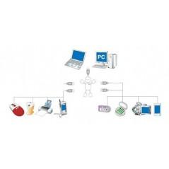 USB Hub 4 Port (ER-ACA11004U)  for Raspberry Pi ,PC,..