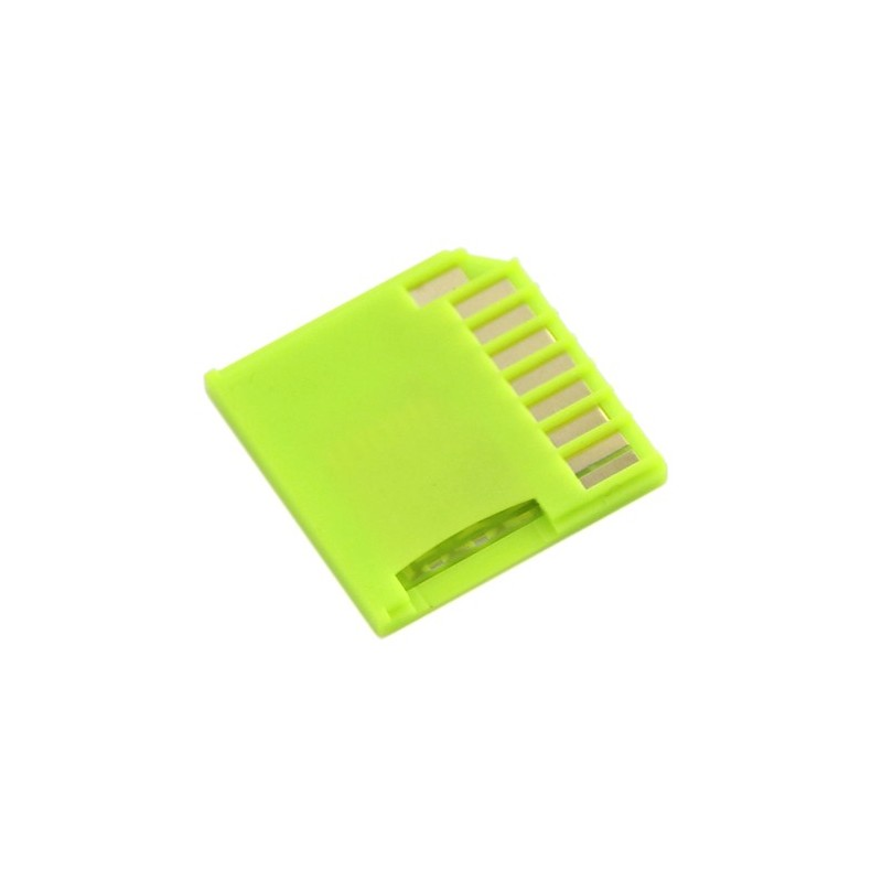 Micro SD Card Adapter for Raspberry & Macbooks - Green (Seeed 830060001)