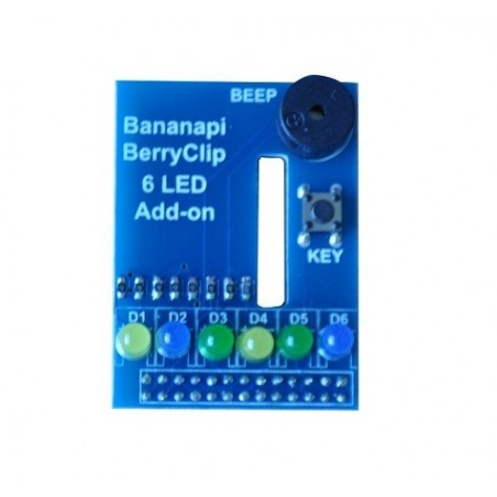 BANANA-BERRYCLIP-LED Berryclip 6LED add-on DIY board, can use on Raspberry Pi board