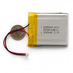 Polymer Lithium Ion Battery - 2000mAh (Sparkfun PRT-08483)